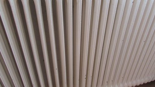 A radiator that has been flushed